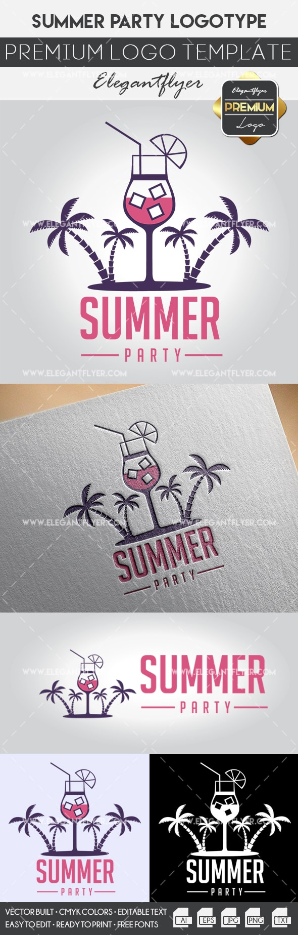 Summer Party – Premium Logo Template
