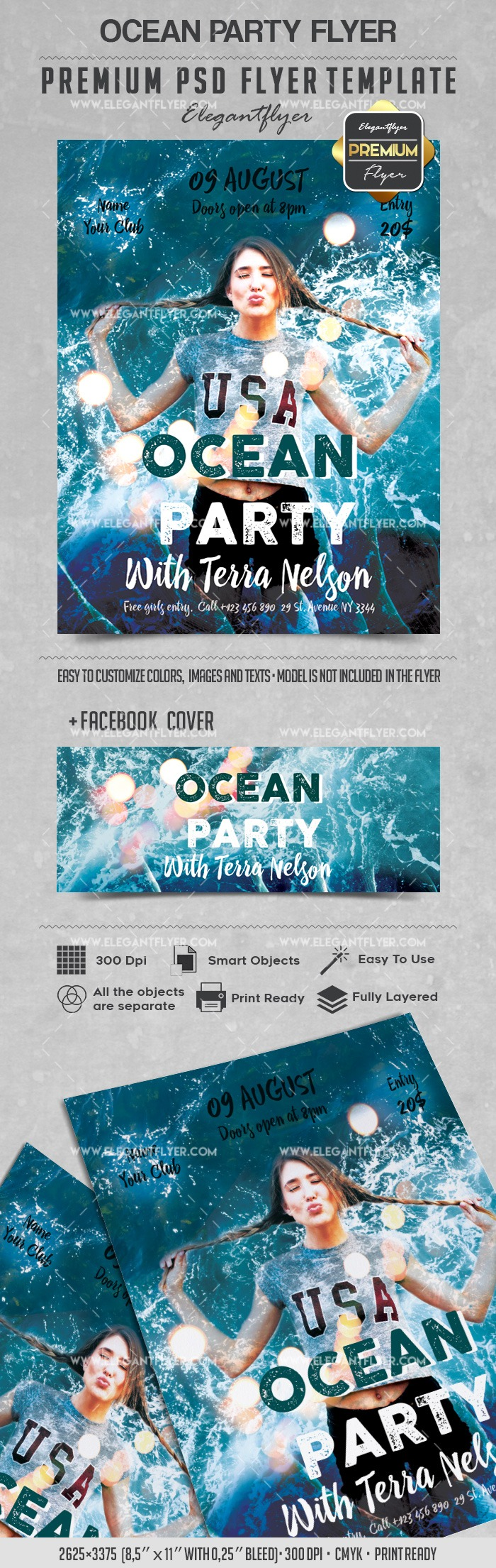 Ocean Party – Flyer PSD Template