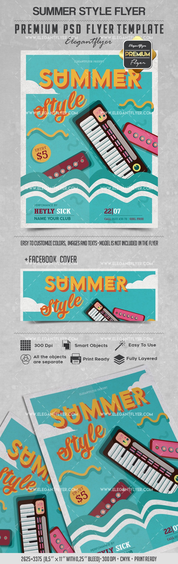 Summer Style – Flyer PSD Template