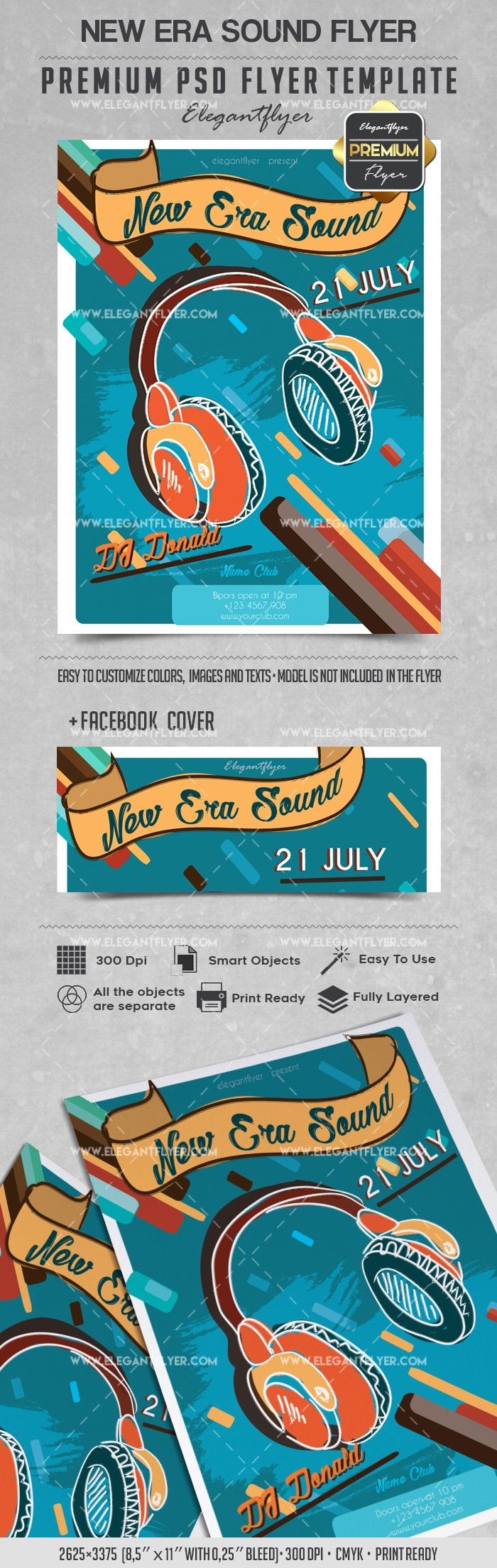 New Era Sound – Flyer PSD Template