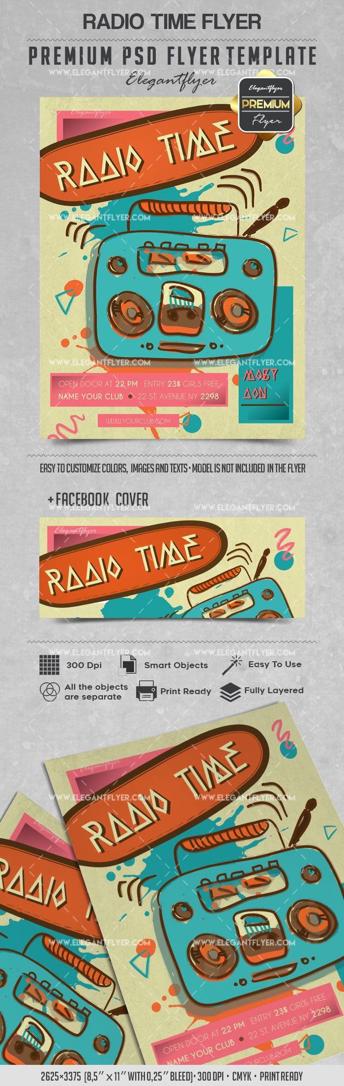 Radio Time – Flyer PSD Template