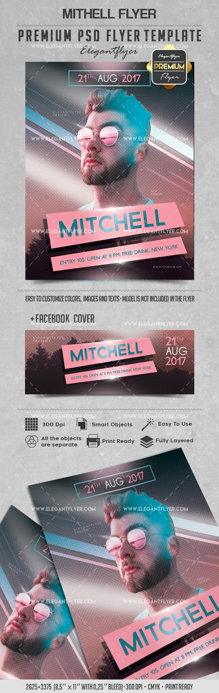 Mithell – Flyer PSD Template