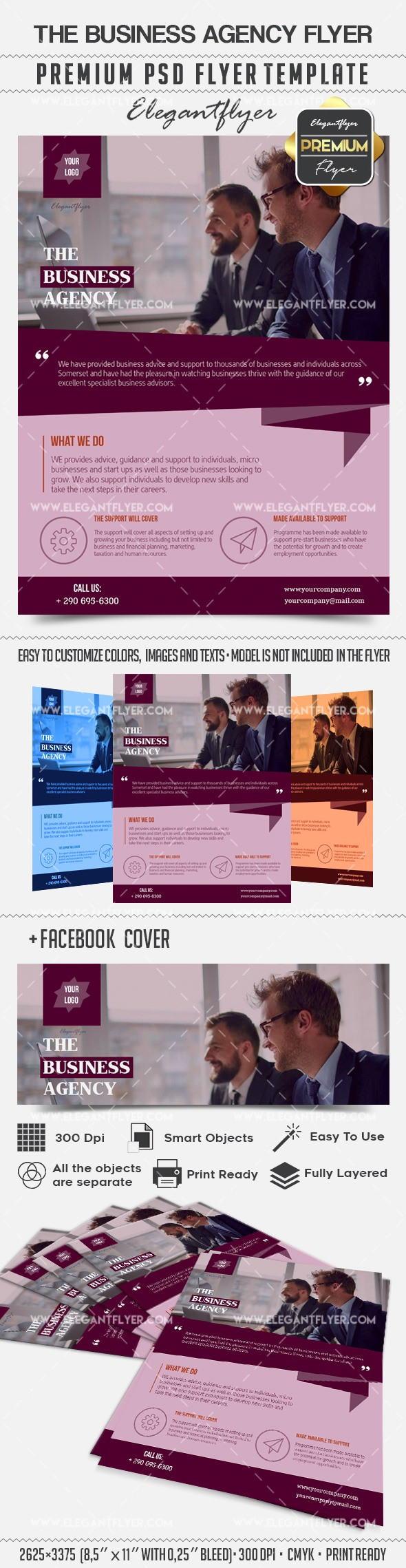 The Business Agency – Flyer PSD Template