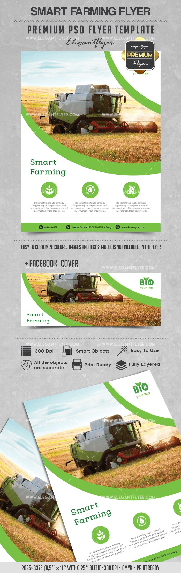 Flyer Template For Smart Farming