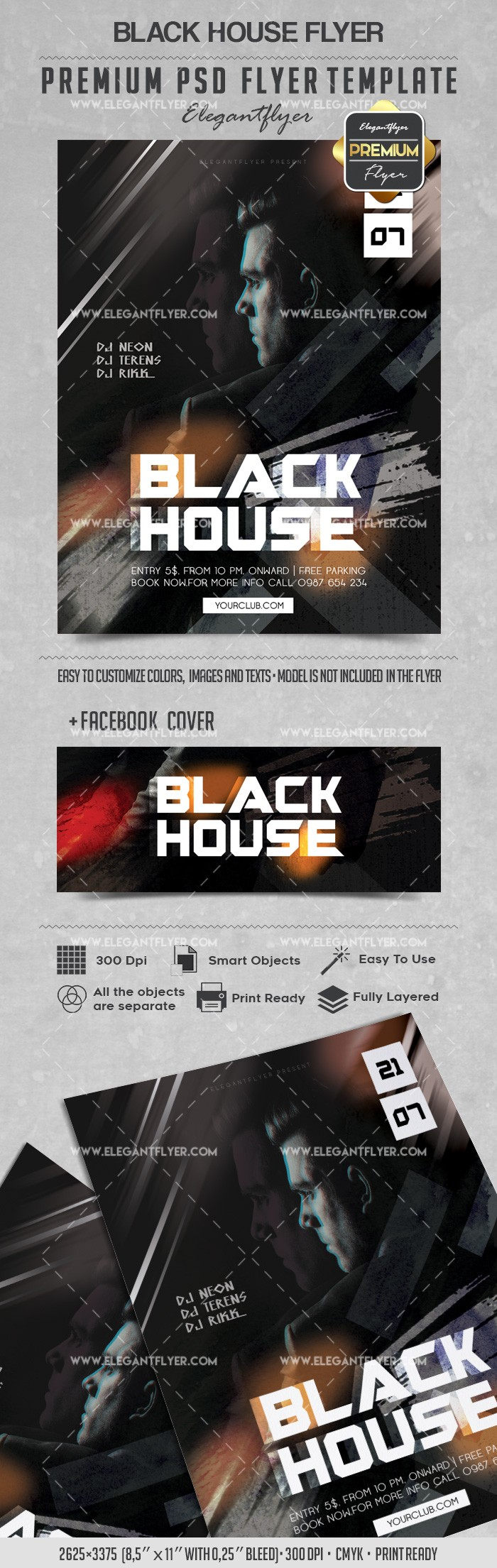 Black House – Flyer PSD Template