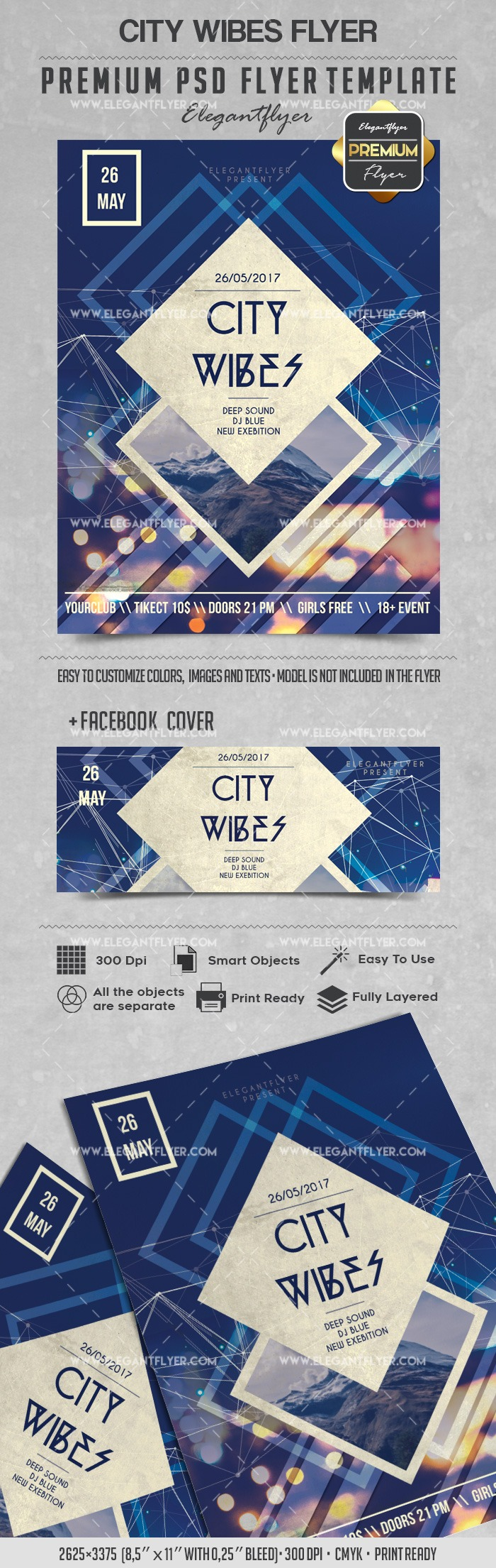 City Wibes – Flyer PSD Template