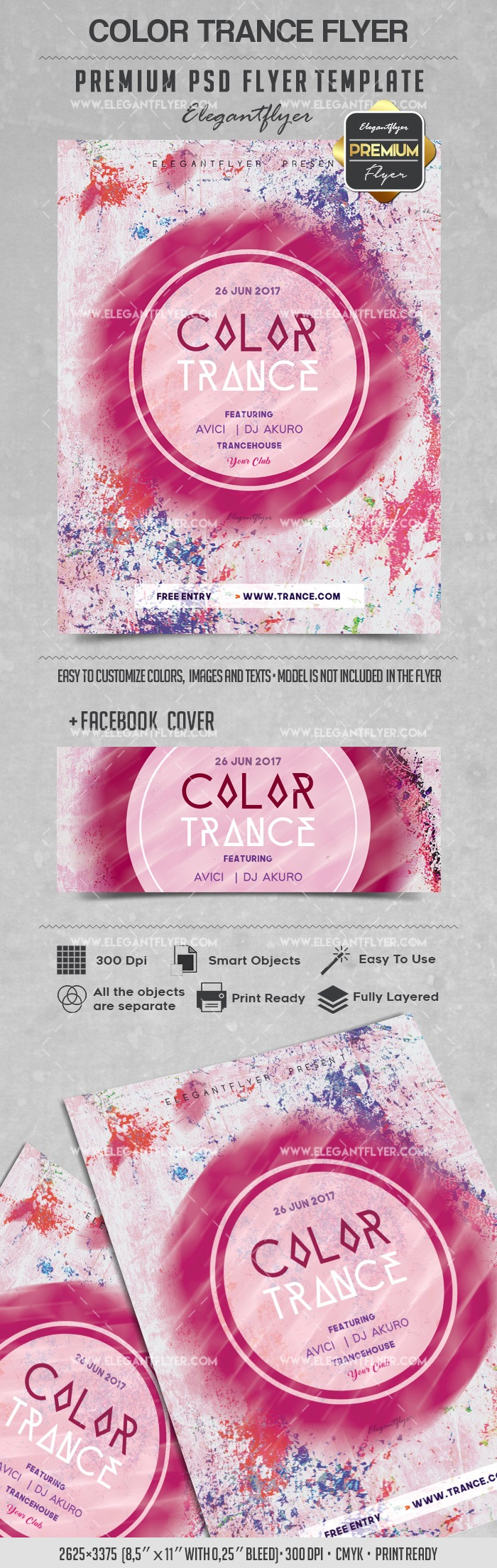 Color Trance – Flyer PSD Template