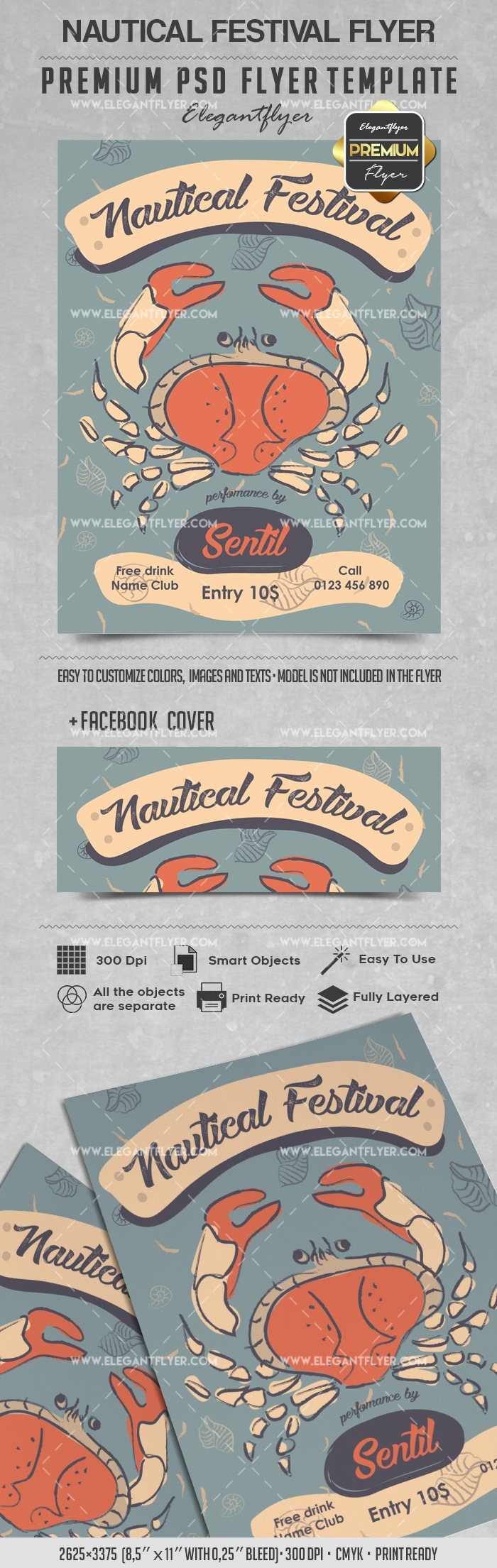 Nautical Festival – Flyer PSD Template