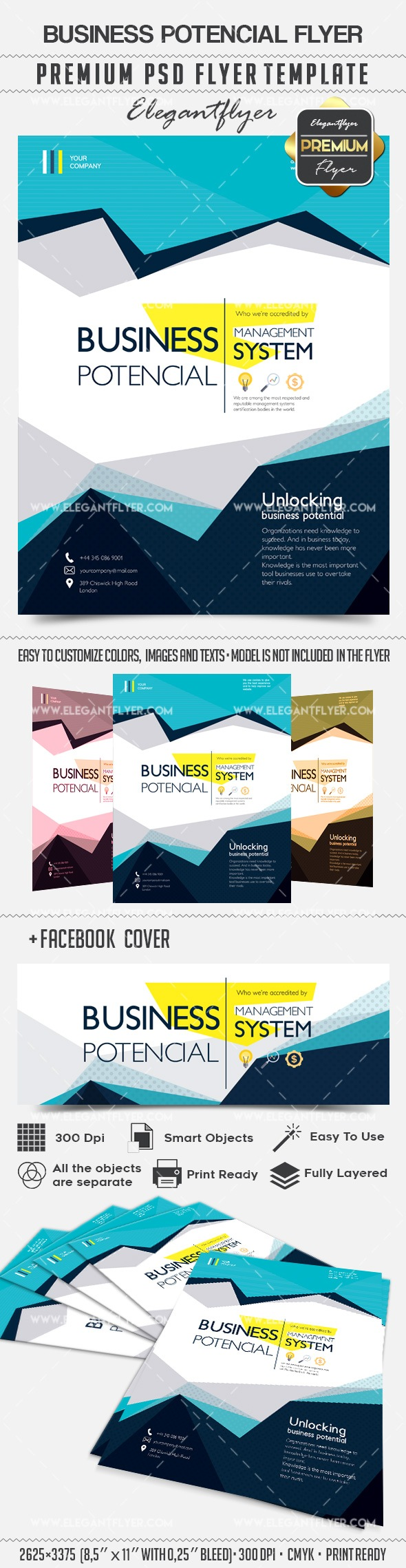 Business Potencial – Flyer PSD Template