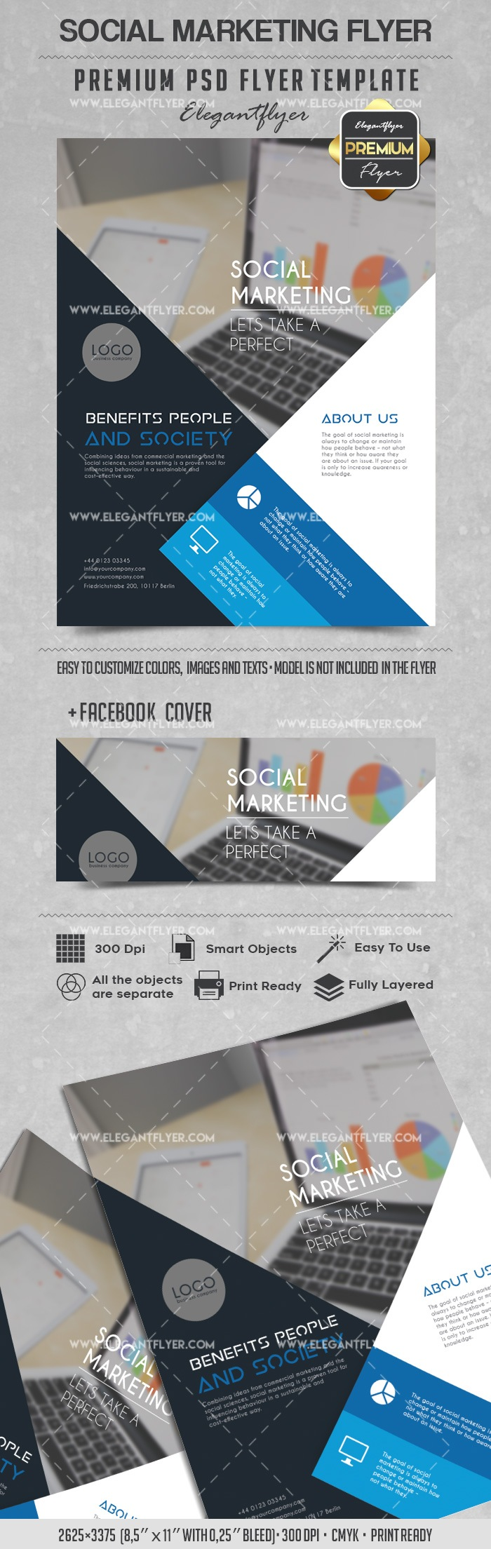 Social Marketing – Flyer PSD Template