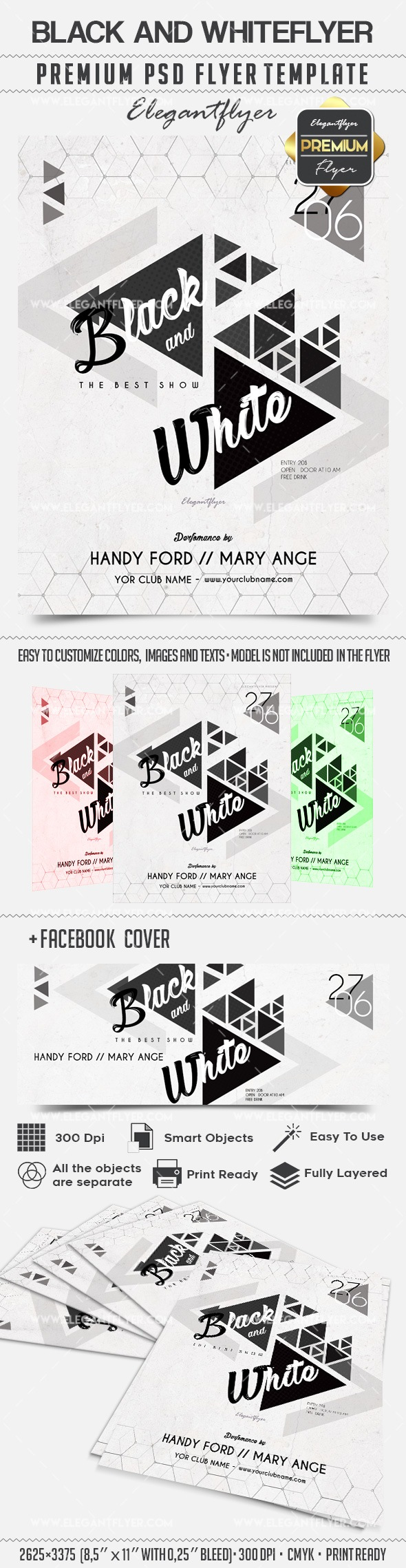 Black and White – Flyer PSD Template