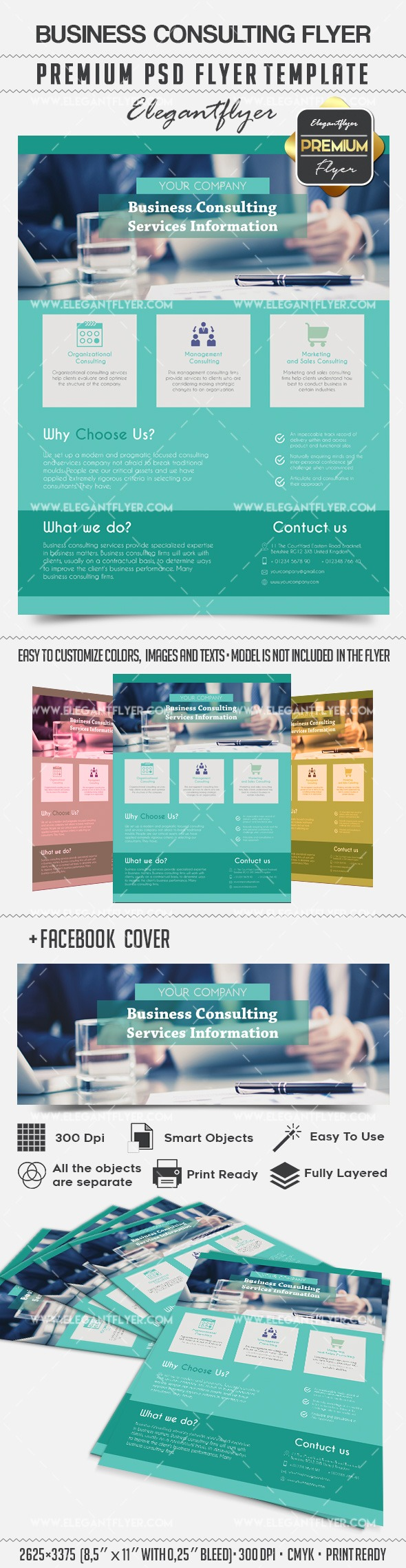 Business Conculting – Flyer PSD Template