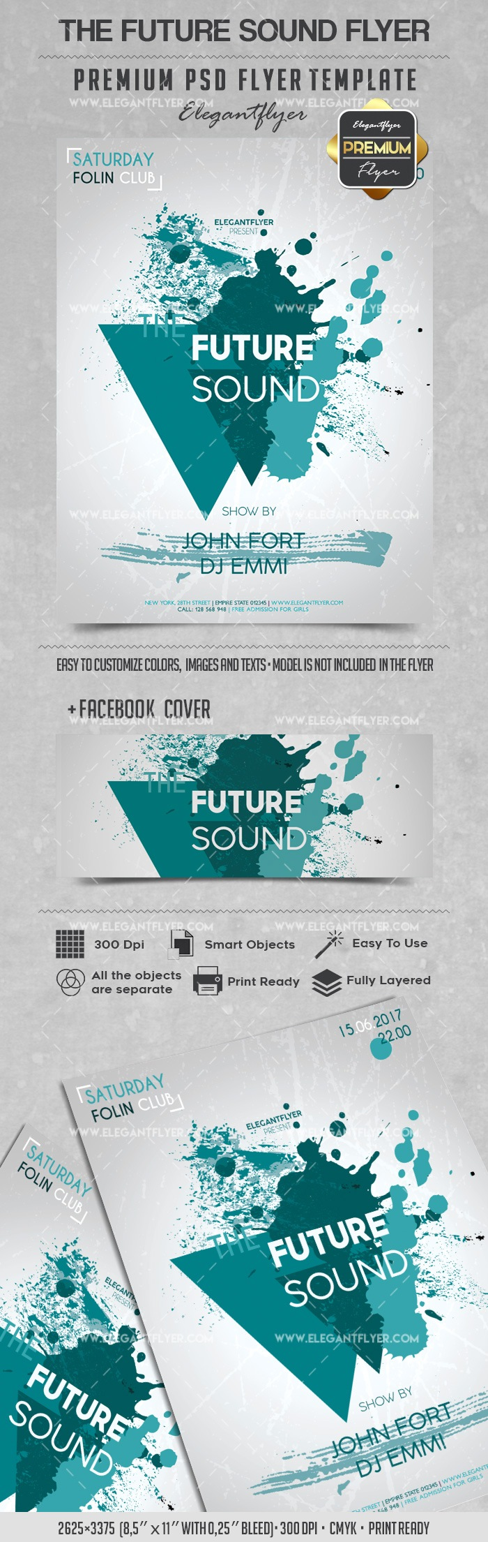 The Future Sound – Flyer PSD Template