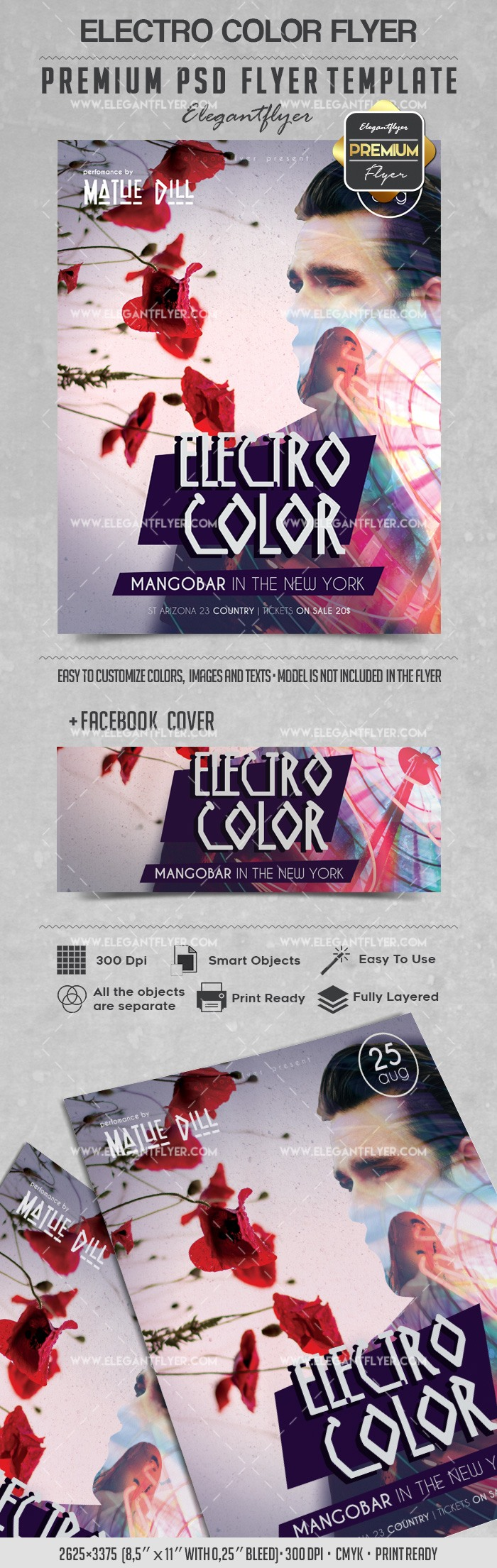 Electro Color – Flyer PSD Template