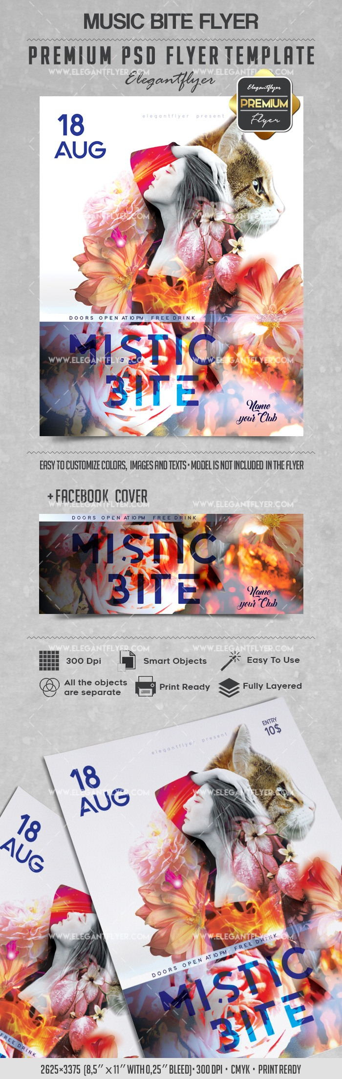 Mistic Bite – Flyer PSD Template