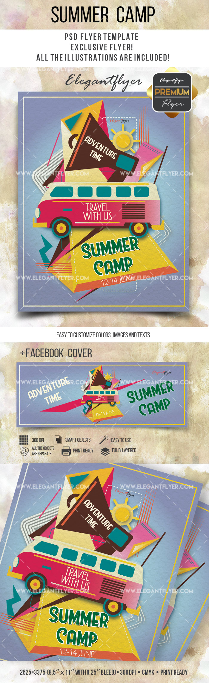 Travel with us Summer Camp PSD Template