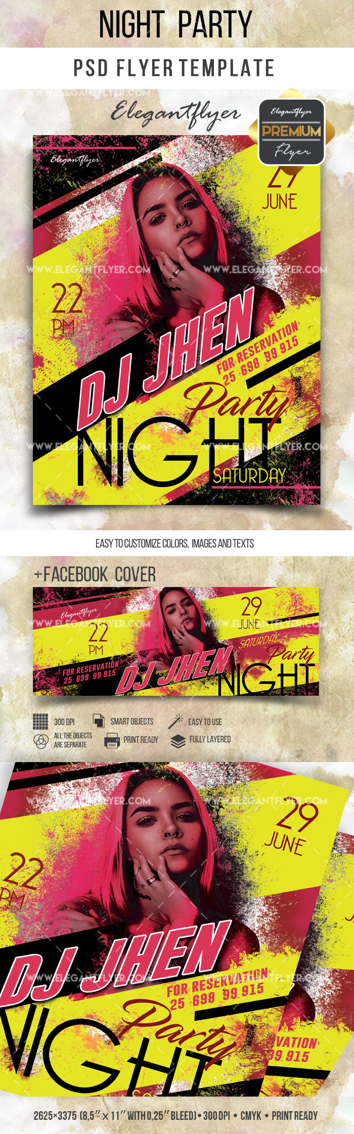 Night Party – Flyer PSD Template