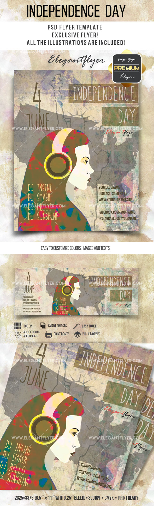 Independece day – Flyer PSD Template