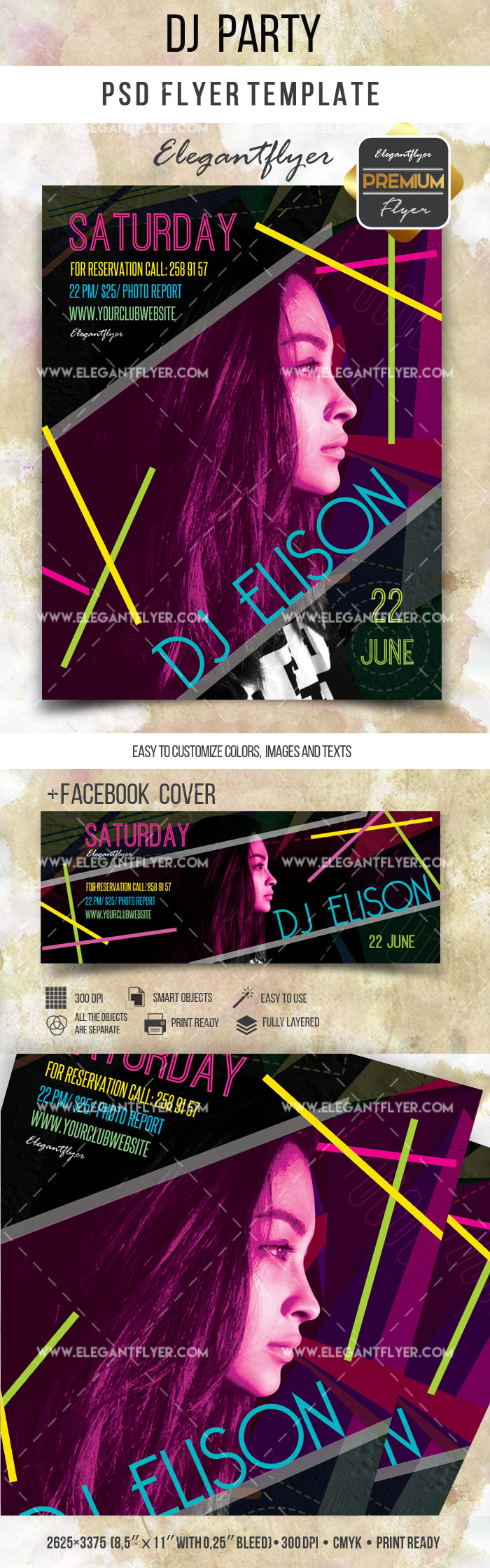Party Favor Dj PSD Template