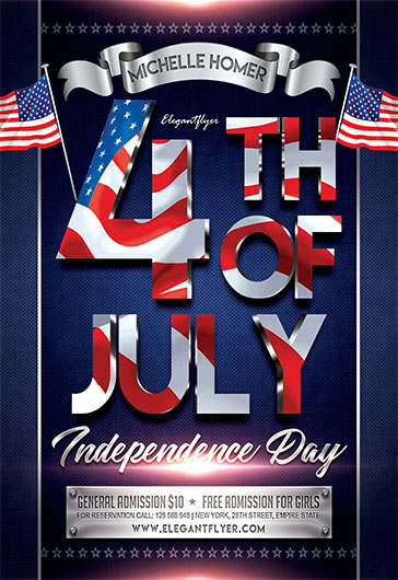 4th of July V02 – Flyer PSD Template