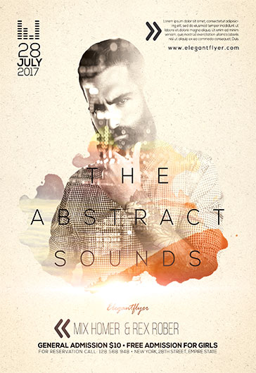 Abstract Sounds Party – Flyer PSD Template