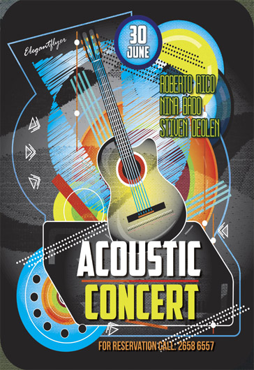 Acoustic Party – Flyer PSD Template