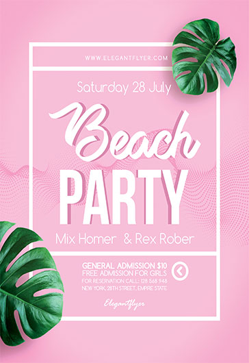 Beach Party V03 – Flyer PSD Template
