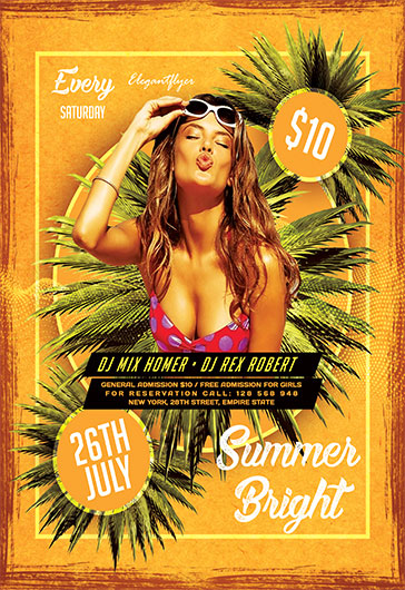 Bright Summer – Flyer PSD Template