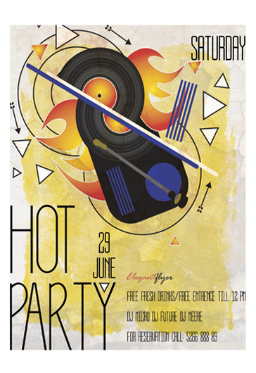 Hot Party Flyer Template
