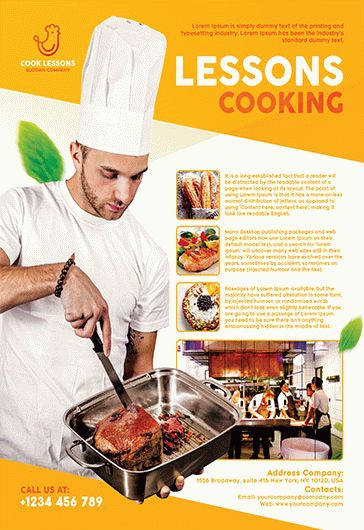 Cooking Lessons – Flyer PSD Template