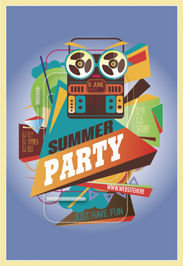 Flyer PSD Template for Summer Party Songs