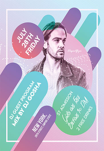 DJ Guest Program V02 – Flyer PSD Template