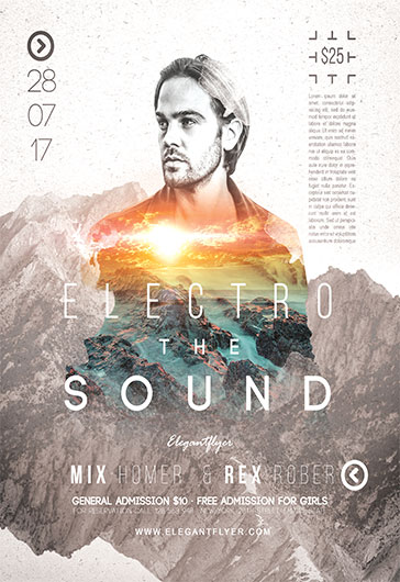 Electro Sound V02 – Flyer PSD Template
