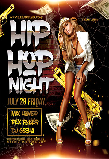 Hip Hop Night – Flyer PSD Template