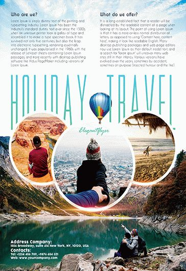 holiday travel  u2013 flyer psd template  u2013 by elegantflyer