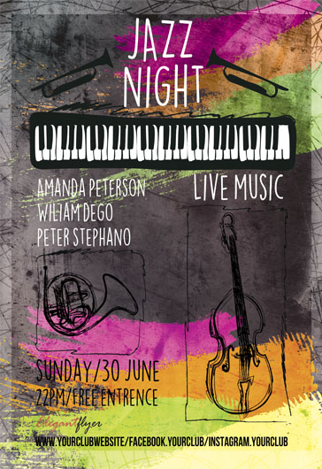 Jazz Night – Flyer PSD Template