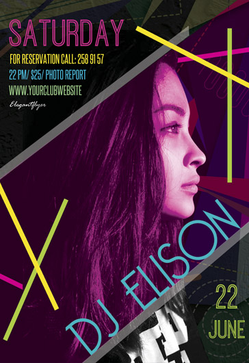 Fashion Weekend – Flyer PSD Template