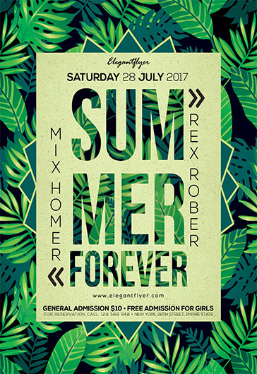 Summer Forever – Flyer PSD Template