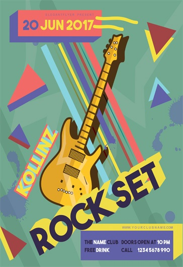 Rock Set – Flyer PSD Template
