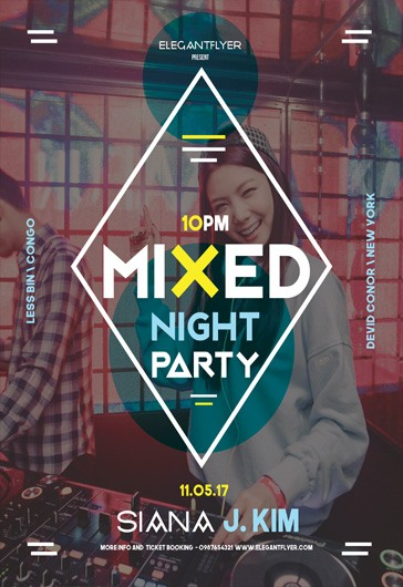 Faded – Flyer PSD Template