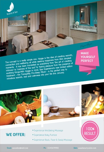 Beauty and Spa – Flyer PSD Template