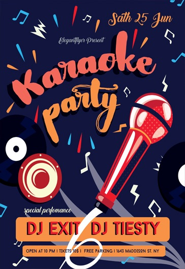 Party Flyer For Karaoke