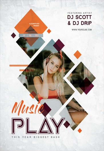 Mixed Party – Flyer PSD Template