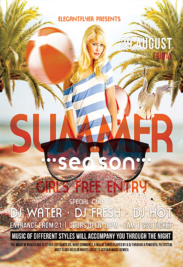 Summer Season – Flyer PSD Template