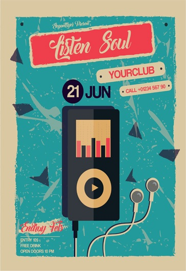 Music Play – Flyer PSD Template