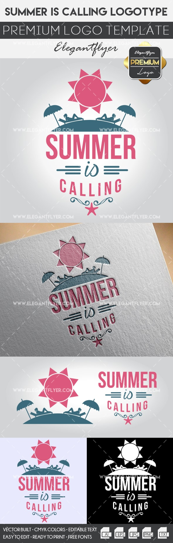 Summer Is Calling – Premium Logo Template
