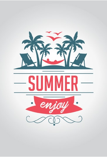 Enjoy Summer Vacation – Free Logo Template