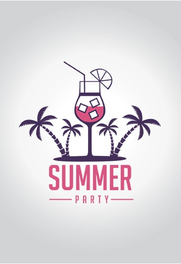 summer party  u2013 premium logo template  u2013 by elegantflyer