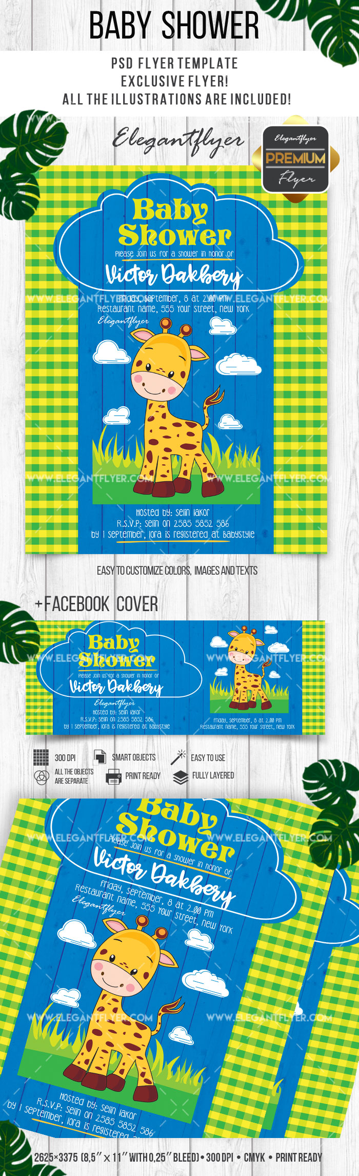 baby shower u2013 flyer psd template facebook cover