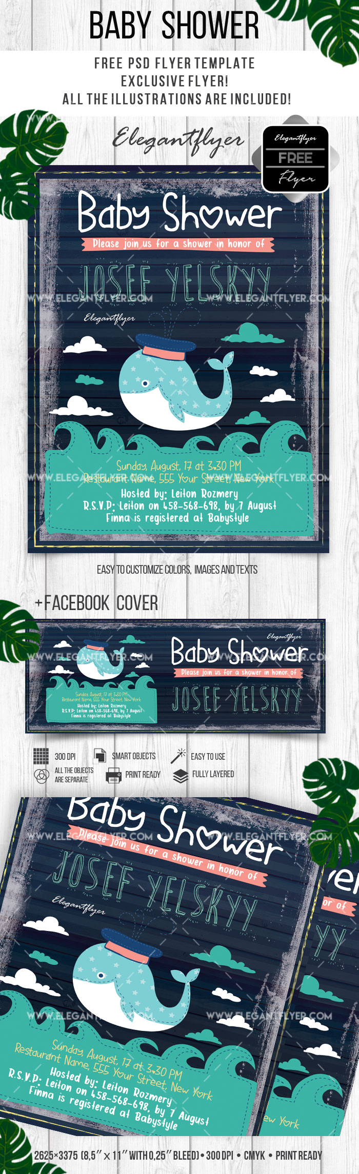 Baby Shower – Free Flyer PSD Template